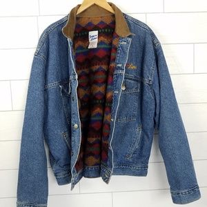 Tony Lama Mens XL Blanket Lined Jean Jacket Denim